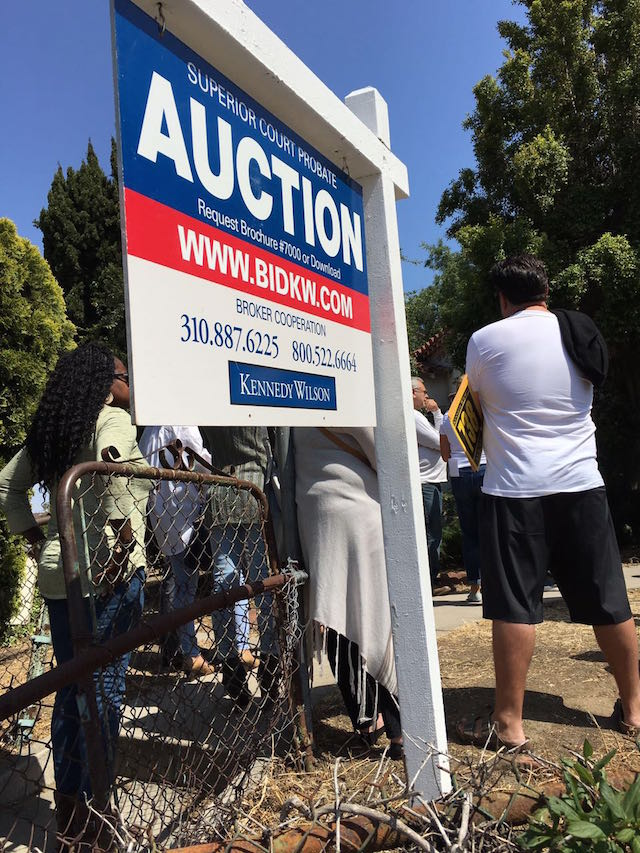 Court ordered onsite auction
